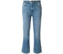 'Benny' Cropped-Jeans mit weitem Bein