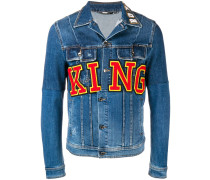 "Jeansjacke mit ""King""-Patch"