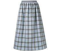 tartan flared midi skirt