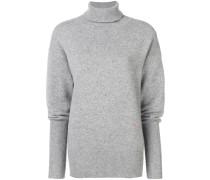 Oversized-Pullover mit Polokragen