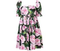 Kleid mit Pfingstrosen-Print