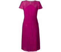 pleated flared midi dress