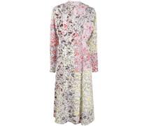 Patchwork-Kleid mit Blumen-Print