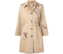 RED (V) embroidered trench coat