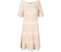 Kleid mit gewelltem Saum