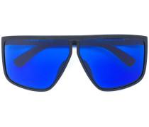 Oversized-Brille mit blauen Gläsern
