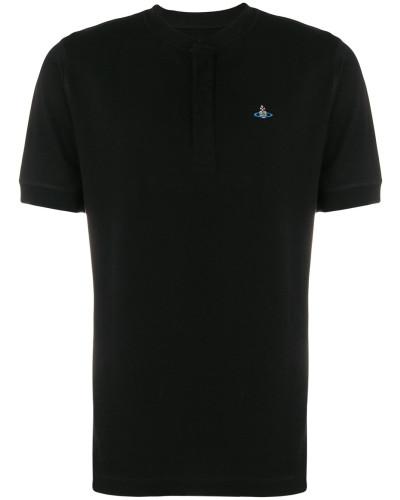 Kragenloses Poloshirt