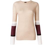 cashmere contrast stripe sweater