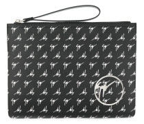 Clutch mit Logo-Print