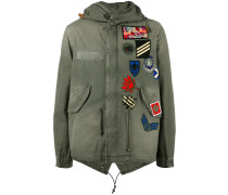 Military-Parka mit Patches