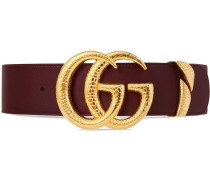 Gürtel aus Leder mit GG-Schnalle