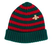 Mütze mit Biene-Stickerei