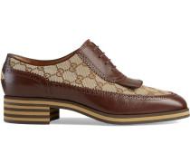 Brogue-Schuh aus Leder mit GG