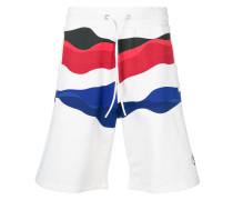 Shorts mit Welle-Print