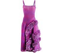 Gepunktetes Kleid im Flamenco-Stil