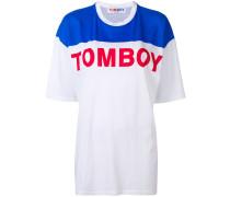 Oversized-T-Shirt mit Slogan