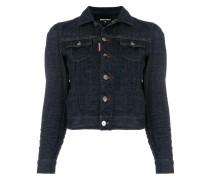 Cropped-Jeansjacke mit schmalem Schnitt