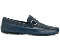 Gancio woven loafers