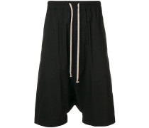 oversized drop-crotch shorts