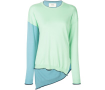 color-blocked sweater