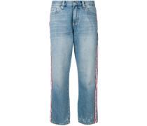 Boyfriend-Jeans mit Logo-Streifen