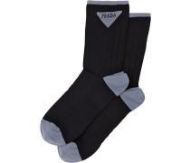 Socken mit Jacquard-Logo
