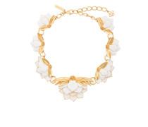 enamelled Wild Lotus necklace