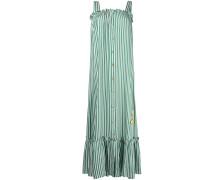 striped banana embroidered maxi dress