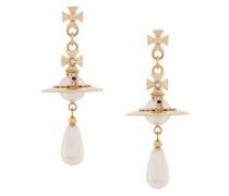 Orb pearl drop earrings