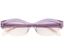 oval-frame gradient sunglasses