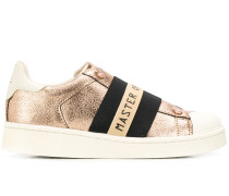Slip-On-Sneakers im Metallic-Look