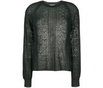 Alpaka-Pullover mit Grobstrick