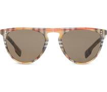 Sonnenbrille mit Vintage-Check