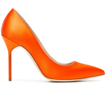 Orange BB 105 Satin Pumps
