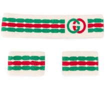 Set aus Schweißbändern und Stirnband