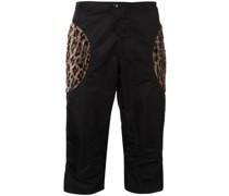 Cargo-Shorts mit Animal-Print