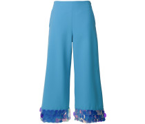 iridescent disc trim cropped trousers