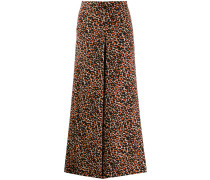 Cropped-Palazzohose mit Leoparden-Muster