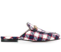 'Princetown' Tweed-Loafer mit Karo
