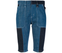Jeansshorts in Patchwork-Optik
