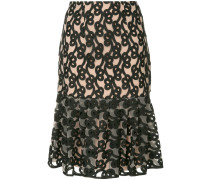 Link embroidered tulle skirt