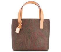 paisley print square tote bag