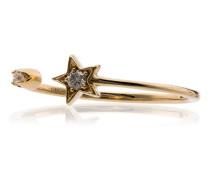 'Luna' 18kt Goldring mit Diamanten