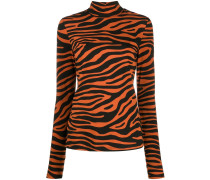 zebra print turtleneck top