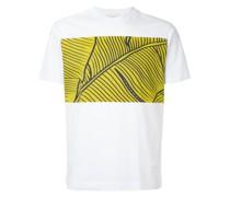 T-Shirt mit Blätter-Print