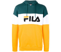 contrast logo hoodie
