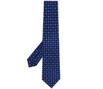 Krawatte mit floralem Rautenmuster