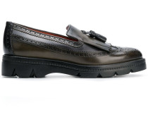 chunky sole brogue loafers