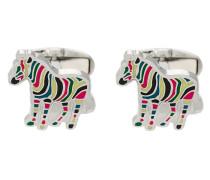 Knopfmanschetten mit Zebra-Motiv