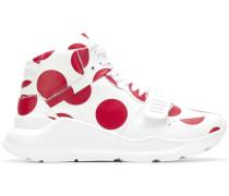 High-Top-Sneakers mit Punkten